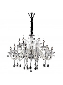 Crystal and glass chandelier 15 lights Colossal ivory
