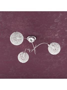 Plafoniera moderna 3 luci con sfere tpl 1098-pl3go
