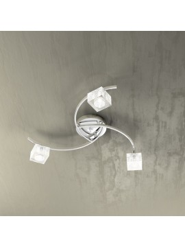 Modern ceiling light 3 lights glass cube tpl 1047-pl3