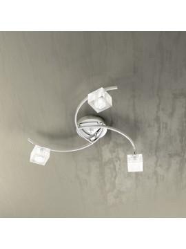 Plafoniera moderna 3 luci vetro cubo tpl 1047-pl3