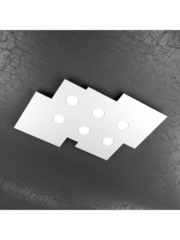 Plafoniera moderna 6 luci design tpl 1129-pl6r