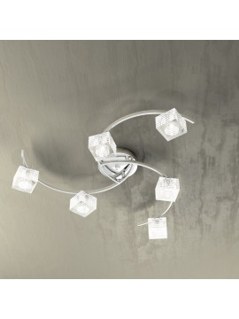 Modern ceiling light 6 lights glass cube tpl 1047-pl6
