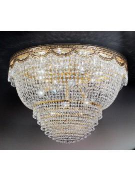 Plafoniera in cristallo classico 12 luci oro Voltolina Pegaso