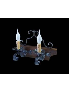 Applique rustico in ferro battuto 2 luci BGA 1167
