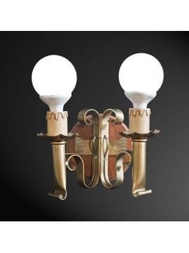 Applique rustico 2 luci BGA 1780
