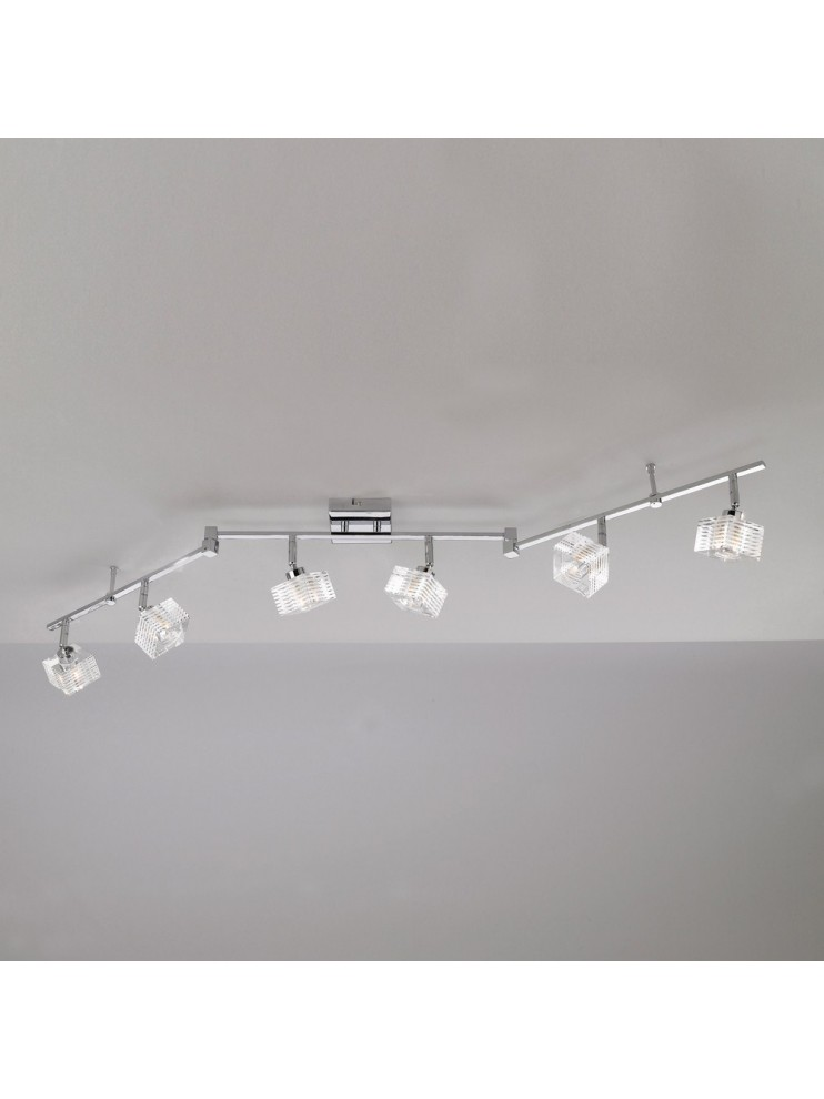 Modern ceiling light 6 lights glass cube tpl 1047-f6-g