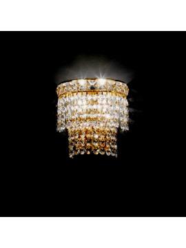 Applique in cristallo classico 2 luci oro Voltolina Beethoven