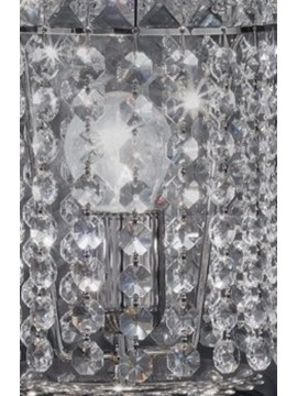 Lumetto in cristallo 1 luce nickel Voltolina Beethoven