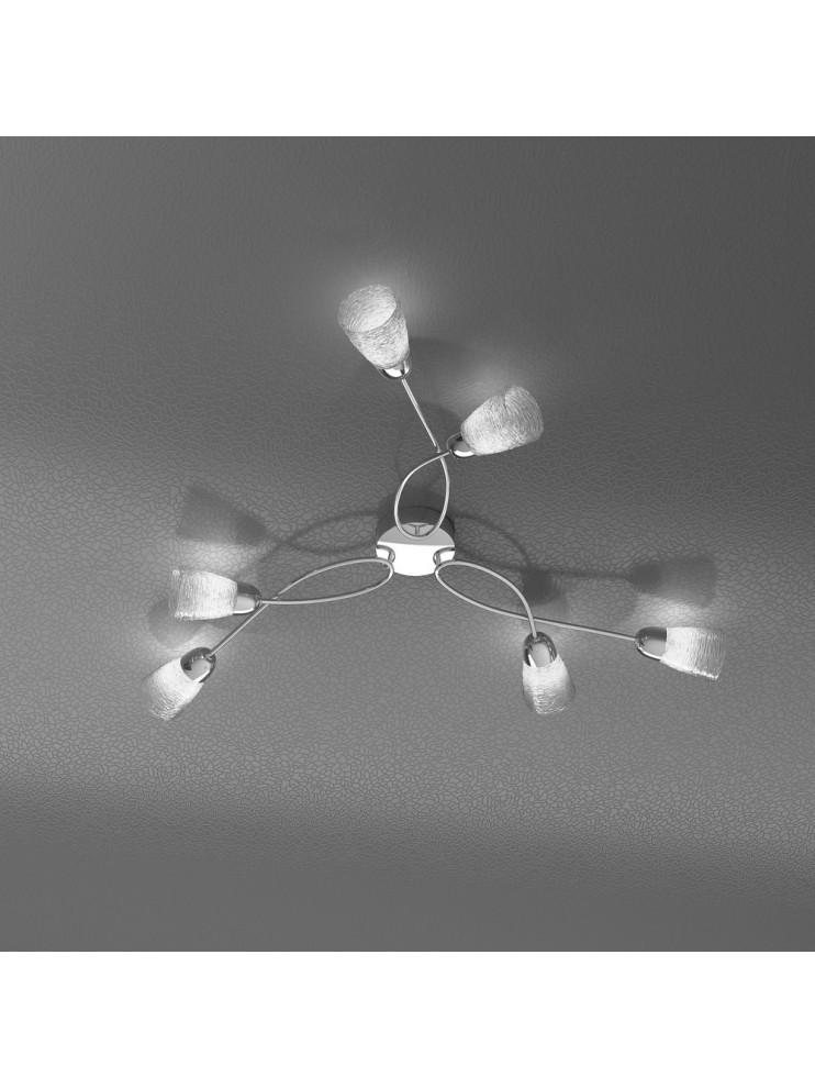 Modern ceiling light 6 lights with tpl glasses 1011-pl6ht