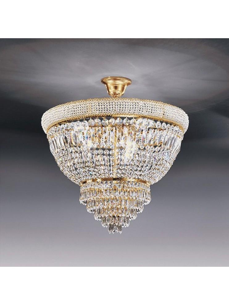 Lampadari In Cristallo Classici.Lampadario In Cristallo Classico 6 Luci Oro Voltolina Osaka