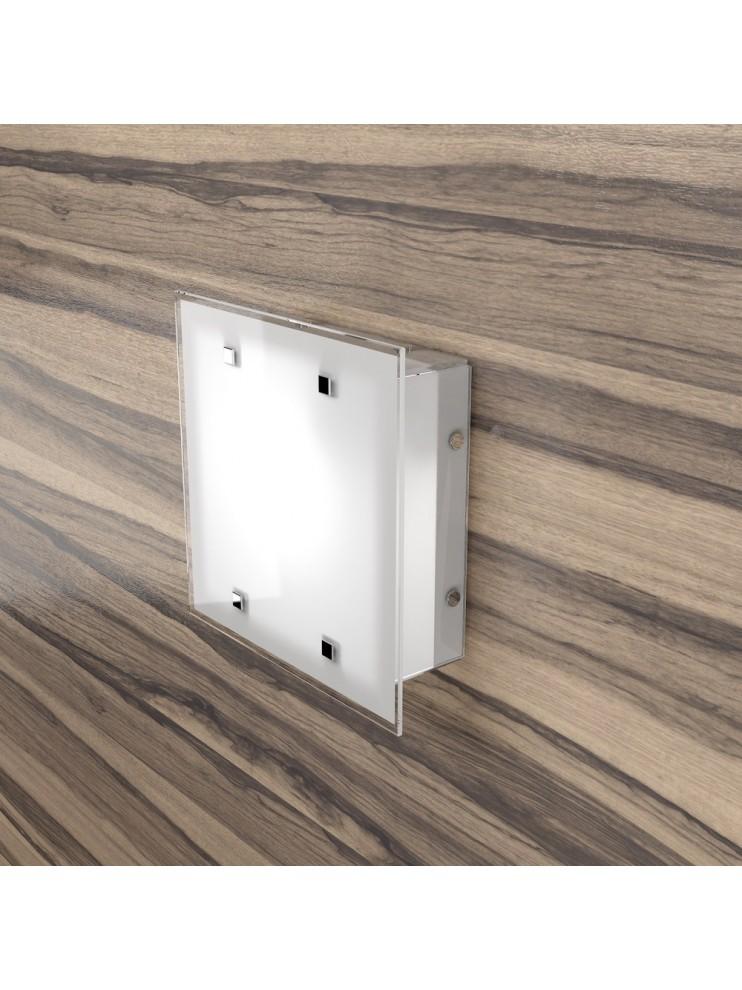 Plafoniera moderna 2 luci design con vetro tpl 1122-25