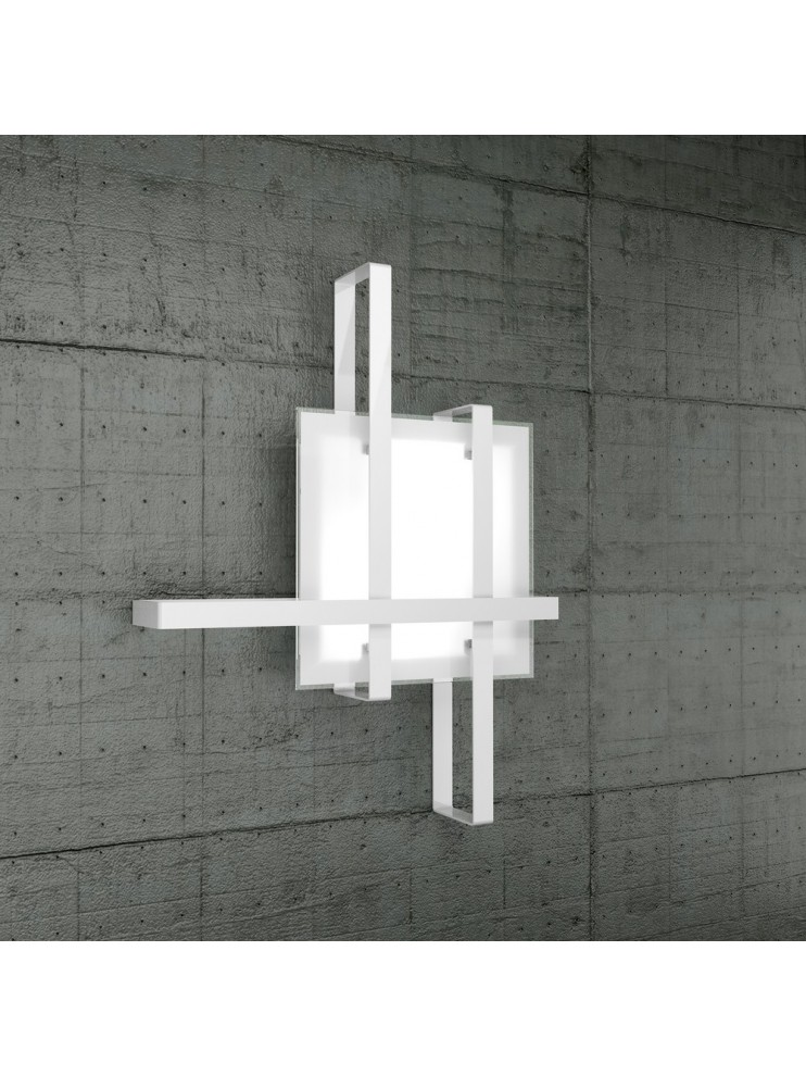 Modern ceiling light 2 lights tpl glass 1106-70cr