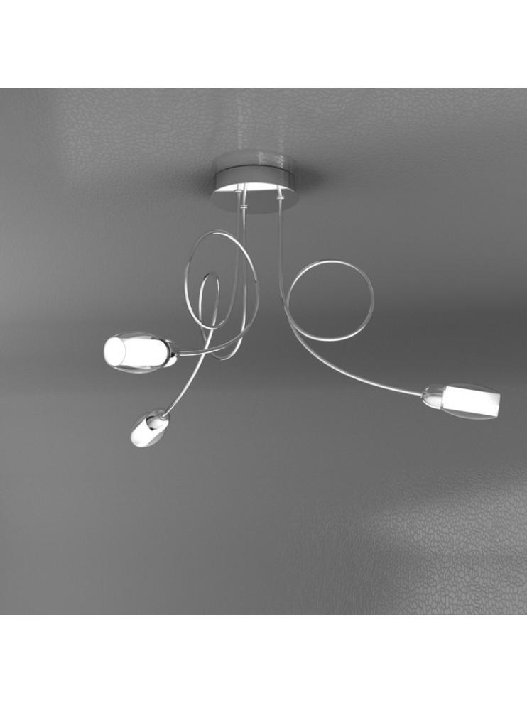 Lampadario moderno 3 luci con vetri tpl 1011-pl3-a
