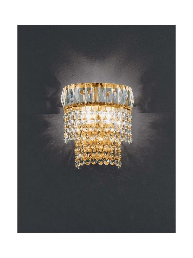 Applique in cristallo classico 2 luci oro Voltolina Roma