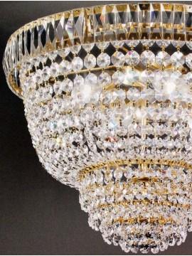 Lampadario in cristallo classico 3 luci oro Voltolina Roma