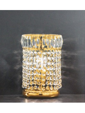 Classic crystal table lamp 1 gold lights Voltolina Rome