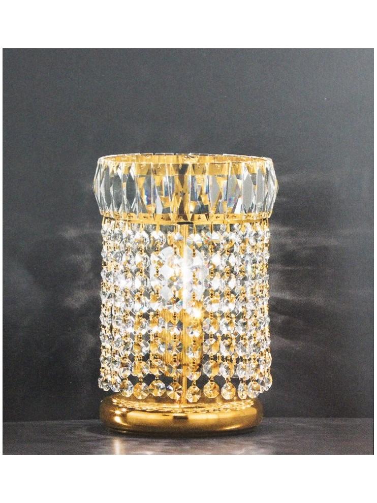 Lumetto in cristallo classico 1 luci oro Voltolina Roma