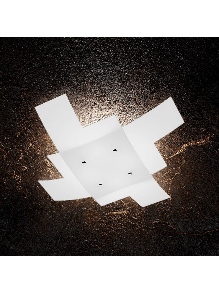 Plafoniera moderna 4 luci in vetro tpl 1120/55