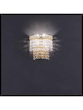 Applique in cristallo classico 2 luci oro Voltolina Settat