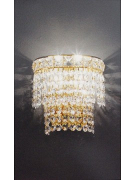 Classic crystal sconce 2 lights gold Voltolina Settat