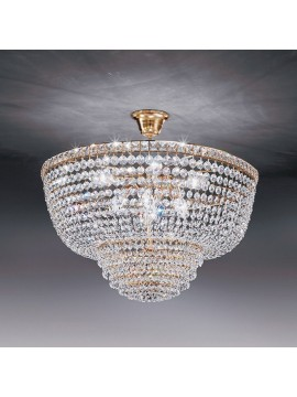 Chandelier in classic 6-light gold crystal Voltolina Settat