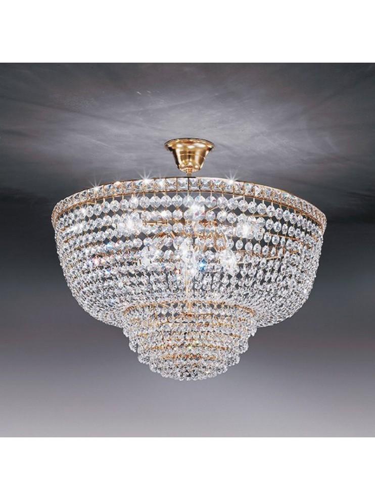 Lampadari In Cristallo Classici.Lampadario In Cristallo Classico A 6 Luci Oro Voltolina Settat