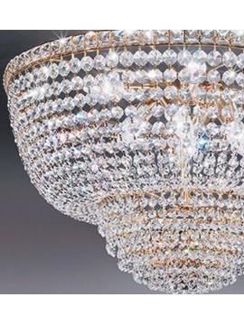 Lampadario in cristallo classico a 6 luci oro Voltolina Settat