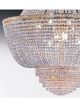 Lampadario in cristallo classico a 9 luci oro Voltolina Settat Impero