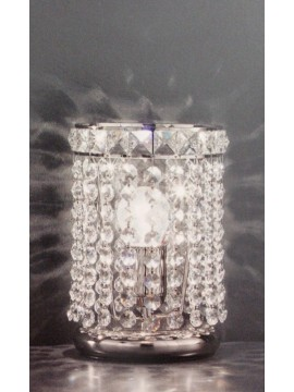 Table lamp in clear crystal with 1 light nickel Voltolina Settat