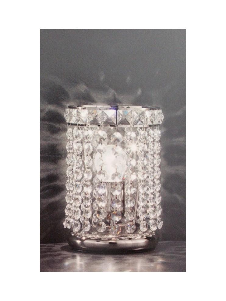 Lumetto in cristallo trasparente a 1 luce nickel Voltolina Settat