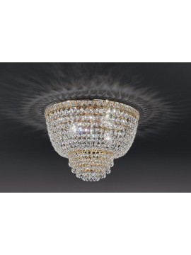 Ceiling lamp in classic crystal 4 lights gold Voltolina Settat