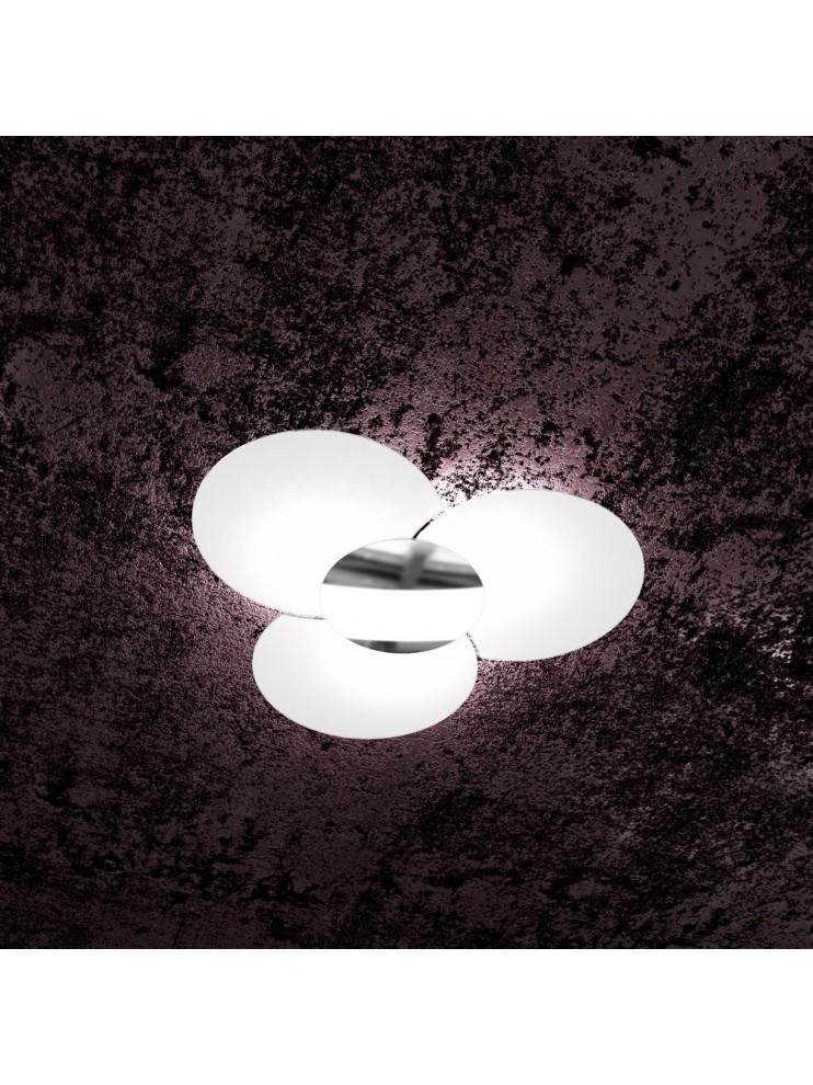 Modern ceiling light 6 lights in tpl glass 1114/70-cr