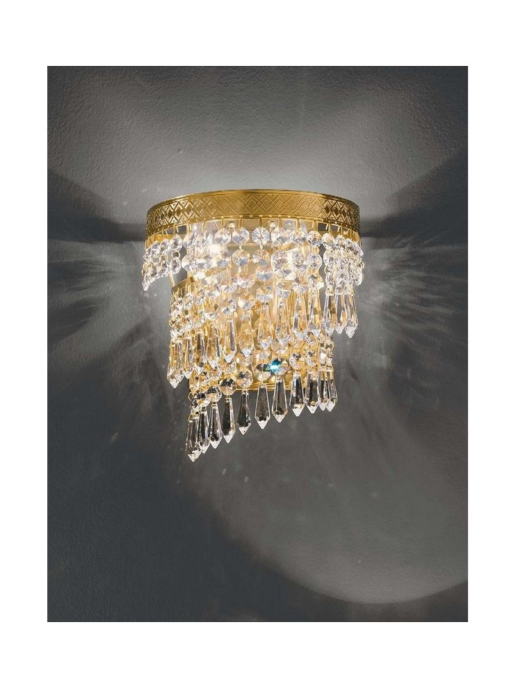Classic 2 lights gold crystal wall lamp Voltolina Twister