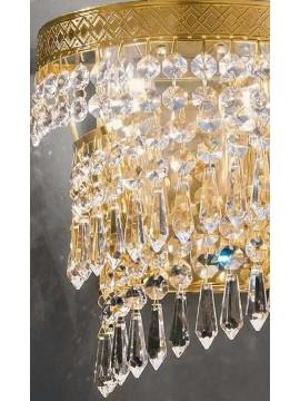 Applique in cristallo classico a 2 luci oro Voltolina Twister