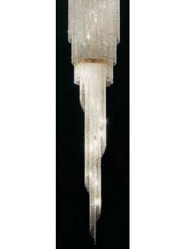 Plafoniera in cristallo classico 20 luci oro Voltolina Twister