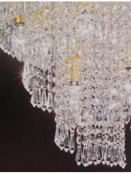 Plafoniera in cristallo classico a 5 luci oro Voltolina Twister