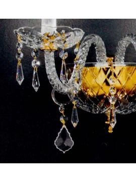 Applique in cristallo classico a 2 luci oro Voltolina Valencia