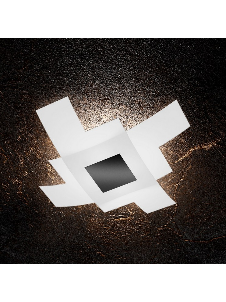 Modern ceiling lamp in glass 4 lights tpl 1121/75-ne