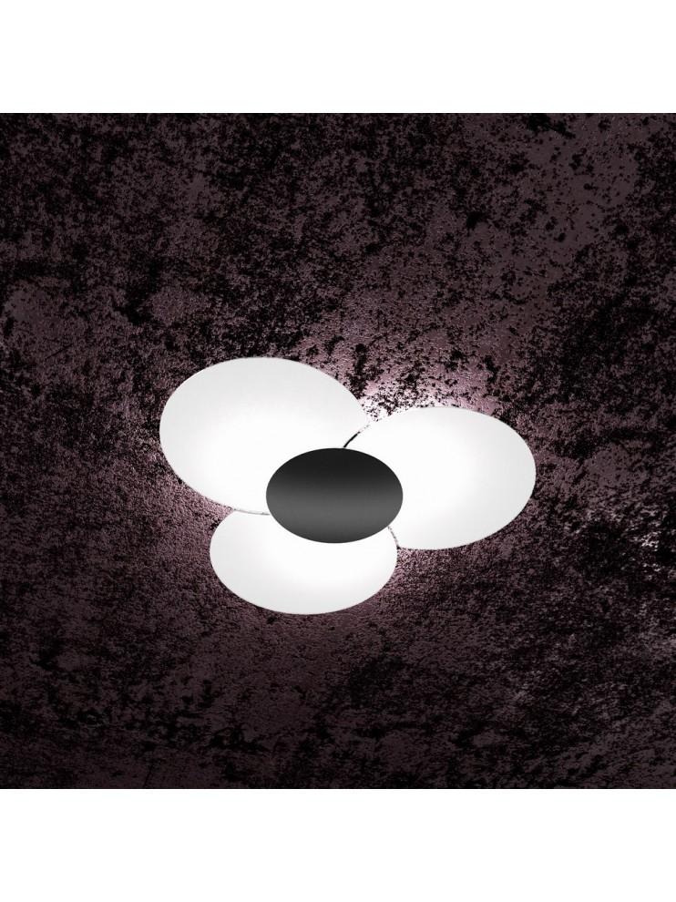 Modern ceiling lamp in glass 6 lights tpl 1114/70-ne