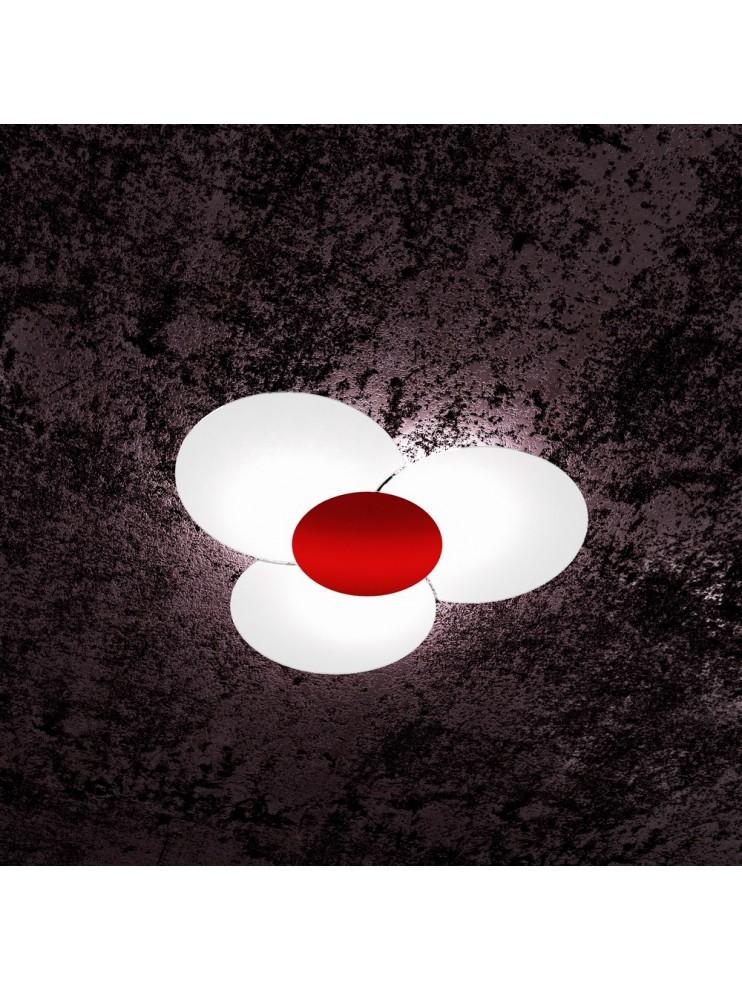 Modern ceiling lamp in glass 6 lights tpl 1114/70-ro