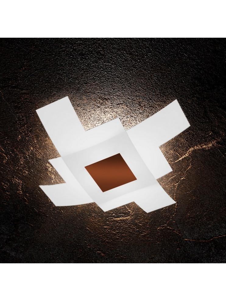 Plafoniera moderna in vetro 4 luci tpl 1121/75-co