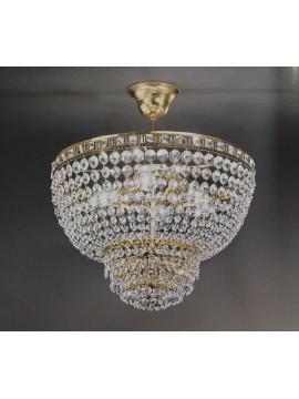 Lampadario in cristallo classico a 3 luci oro Voltolina Amsterdam