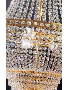 Lampadario in cristallo classico 9 luci oro Voltolina Amsterdam Impero