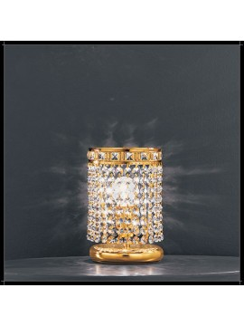Classic crystal table lamp 1 light gold Voltolina Amsterdam