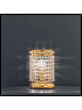 Lumetto in cristallo classico 1 luce oro Voltolina Amsterdam