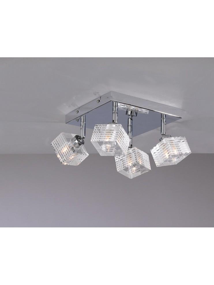 Modern ceiling lamp glass cube 4 lights tpl 1047-pl4