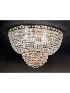 Classic crystal ceiling light 6 lights gold Voltolina Amsterdam