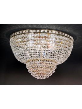 Plafoniera in cristallo classico 6 luci oro Voltolina Amsterdam