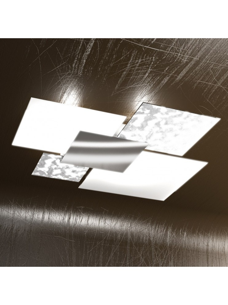 Modern ceiling lamp silver leaf 4 lights tpl 1088-pl90fa