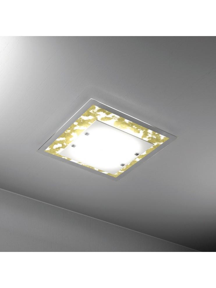 Modern ceiling lamp gold leaf 2 lights tpl 1087-pl45fo